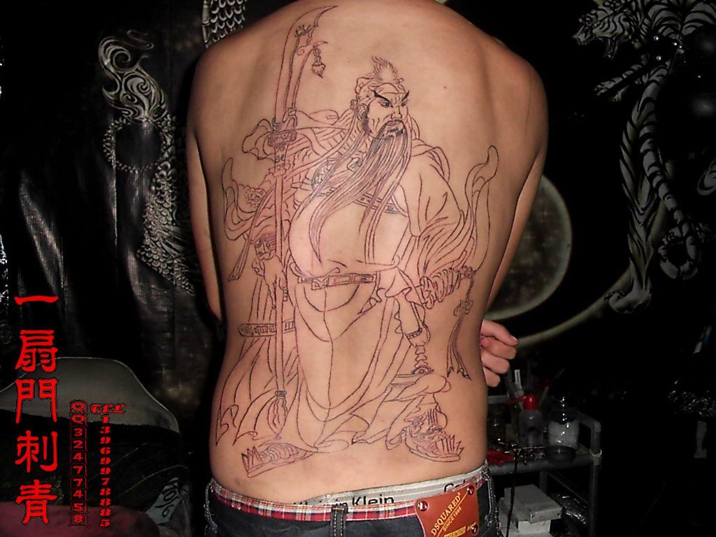 纹身图案关公大图_纹身图案关公大图画法